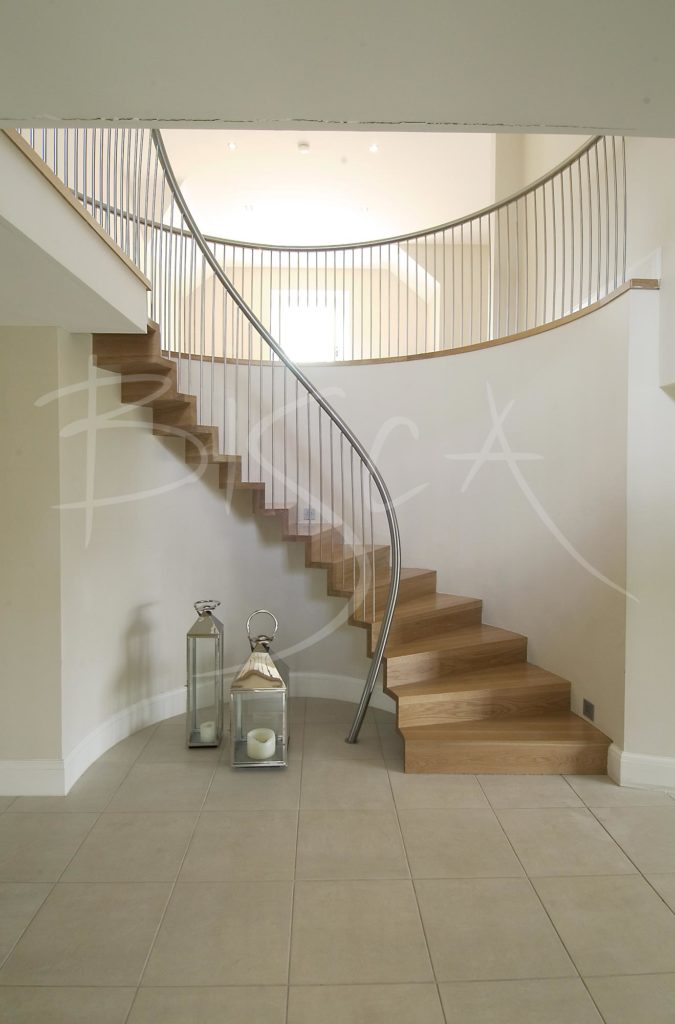1906 - Bisca curved oak staircase design edinburgh