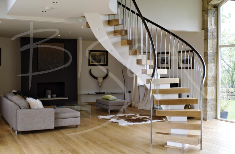 bespoke helical stair