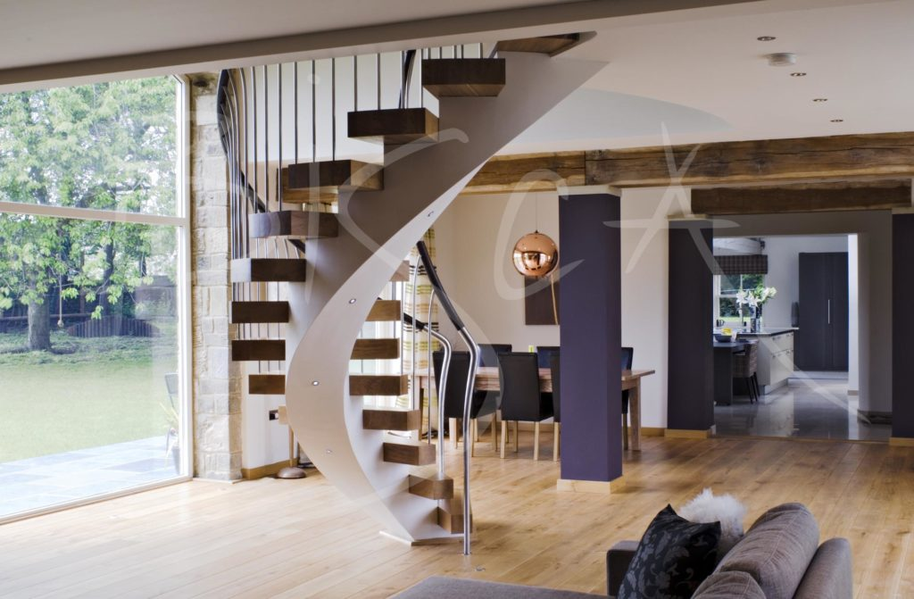 1943 - Bisca bespoke helical stair design Yorkshire