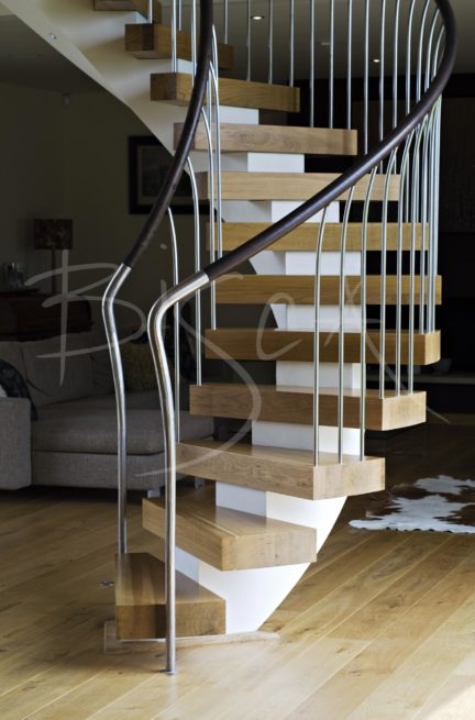 1943 - Bisca bespoke helical stair design Yorkshire
