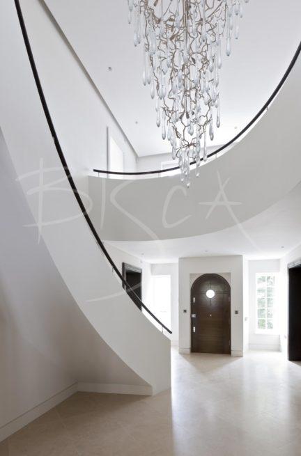 3049 - Bisca walnut stair design