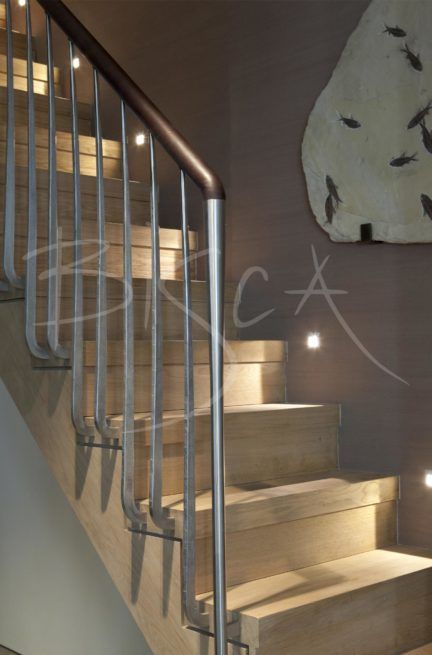 3079 - Bisca basement staircase design London