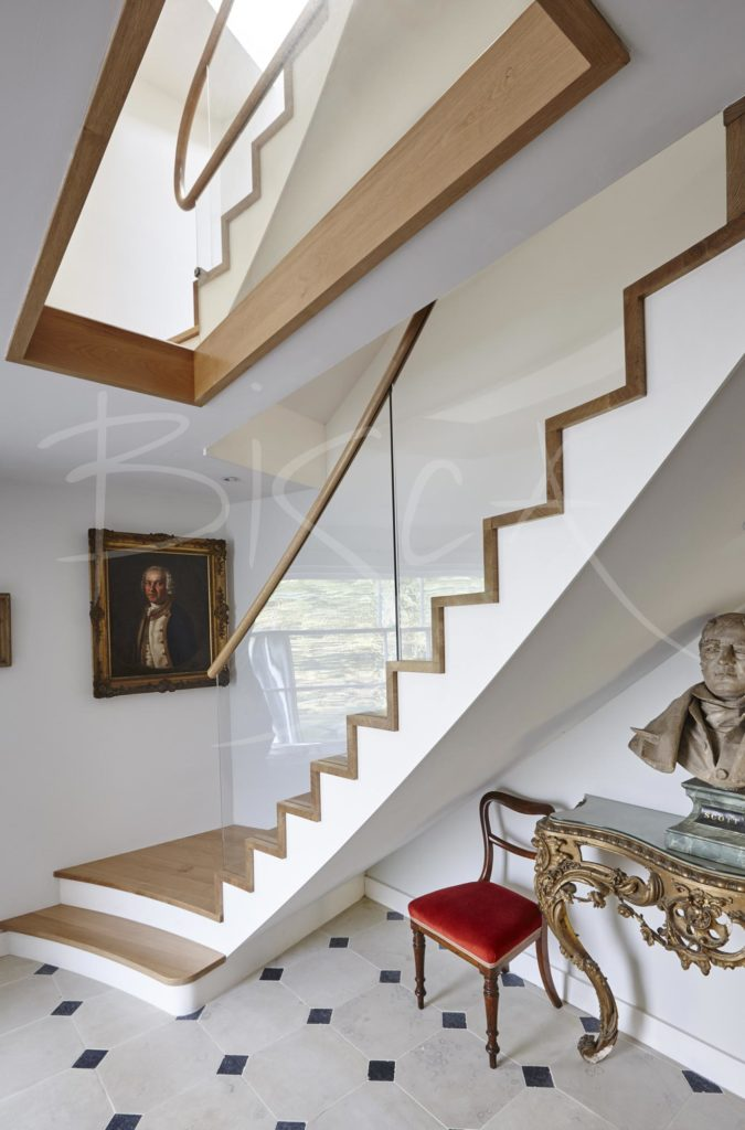 3123 - Bisca contemporary oak stair listed building