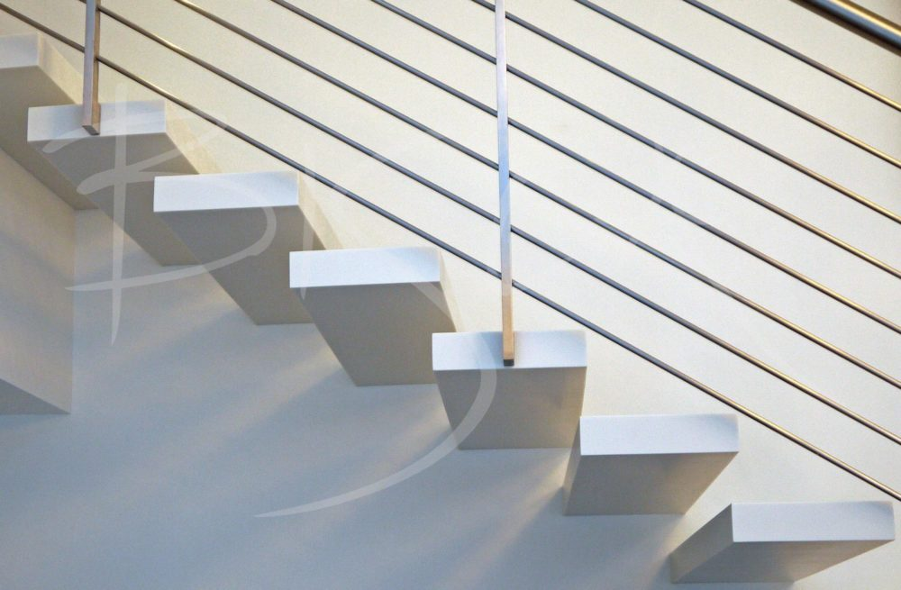 3147 - Bisca Corian Staircase Design USA