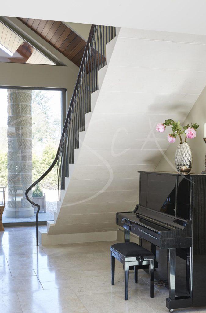4342 - Bisca Stone Cantilever Staircase Design