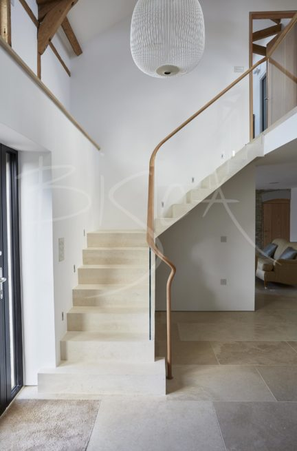 4567 - Bisca Stone Staircases Contemporary Barn Conversion
