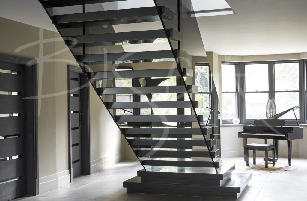 4574 - Bisca Corian Stairs Contemporary Staircase Design