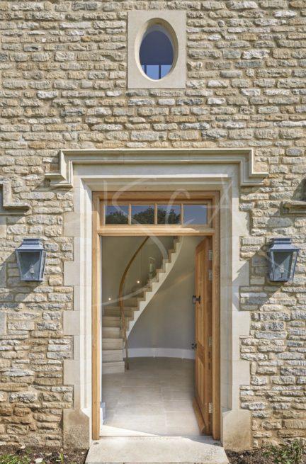 4878 - Bisca zigzag stone staircase design