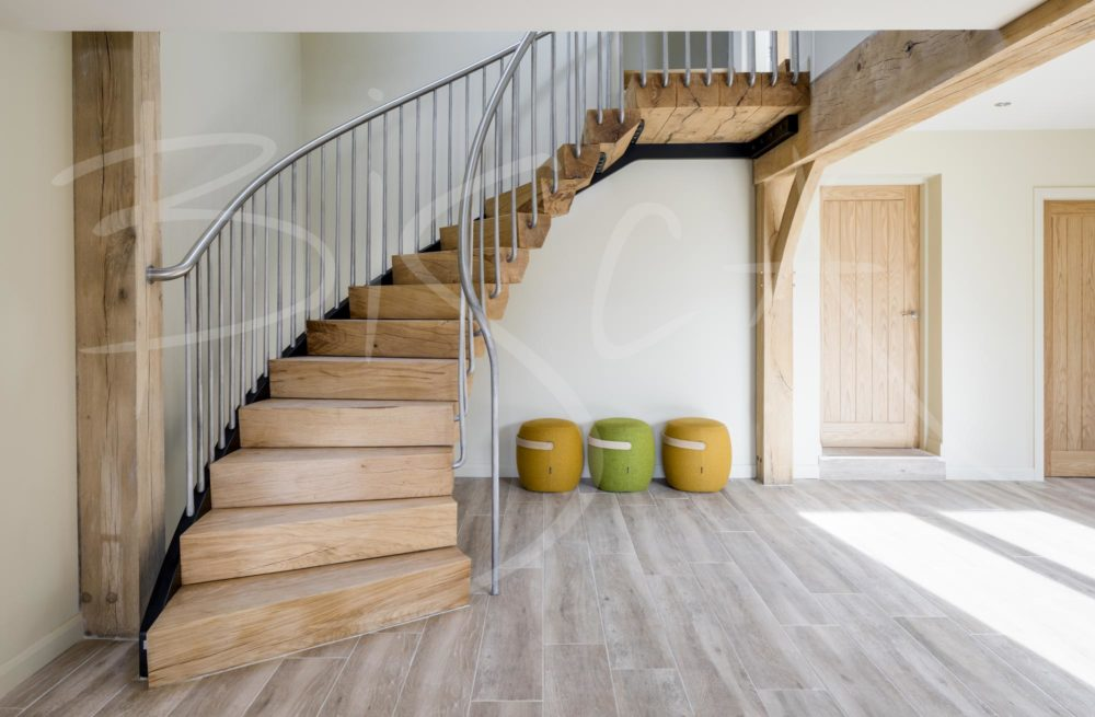 5029 - Bisca Rustic Oak Staircase Design Yorkshire