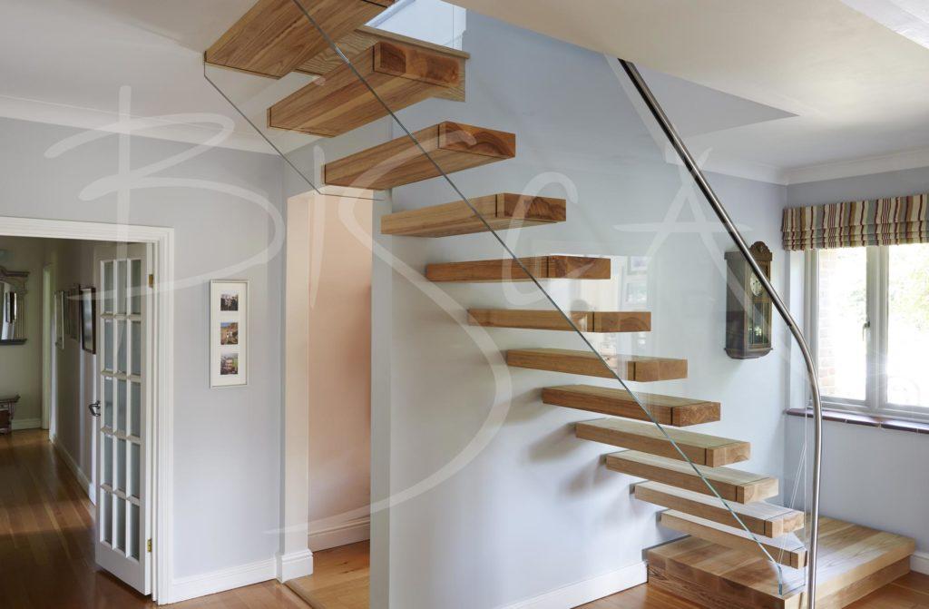 Floating Ash Staircase Buckinghamshire