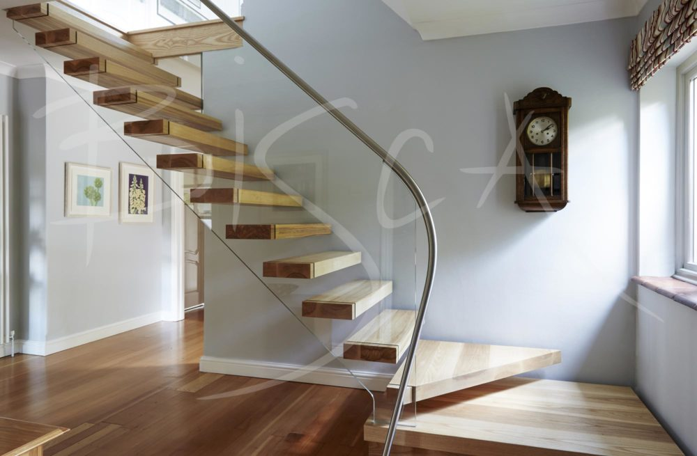Floating Ash Staircase Buckinghamshire