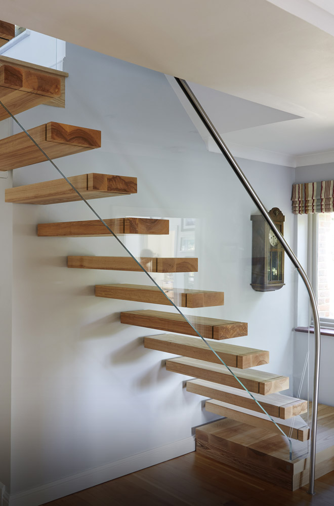After 5047 Floating Ash Staircase Buckinghamshire
