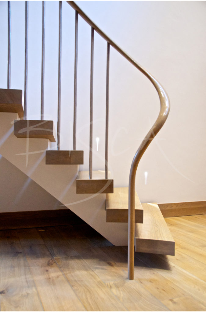 bespoke helical staircase