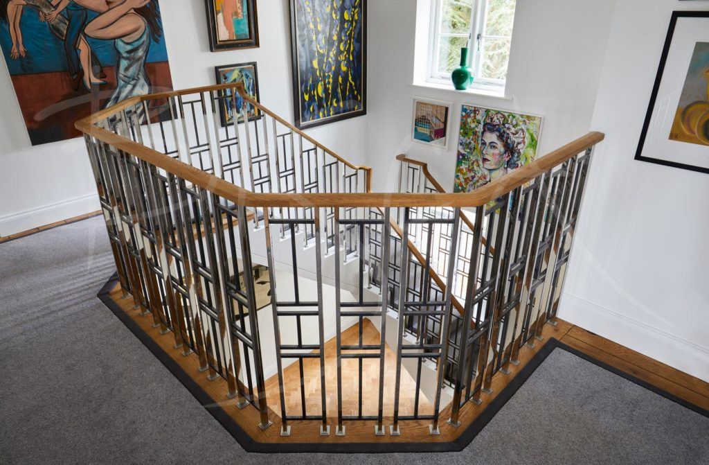 art deco inspired balustrade