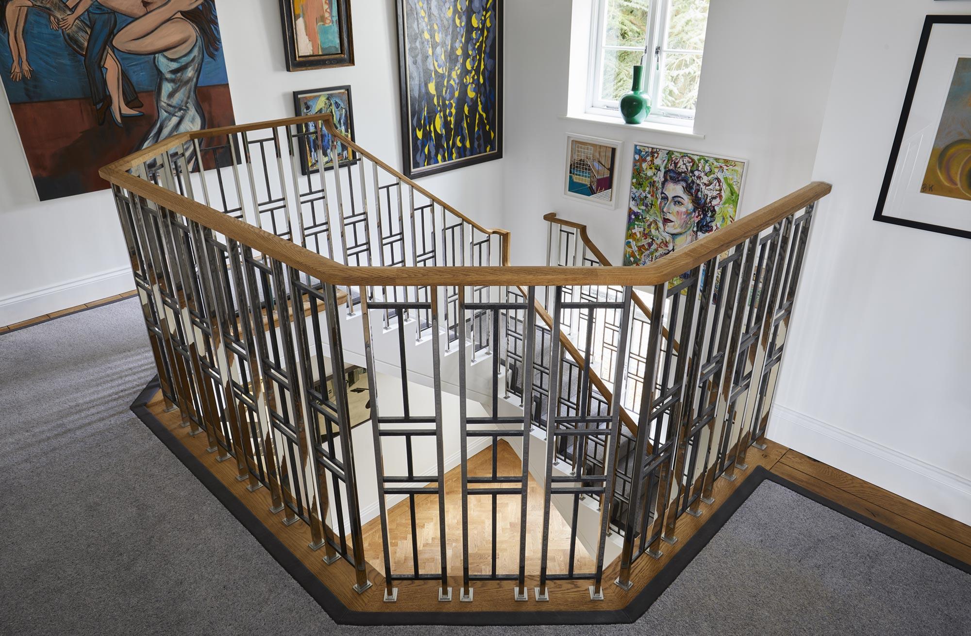 Art Deco Inspired Balustrade Arts Amp Crafts Interiors Bisca