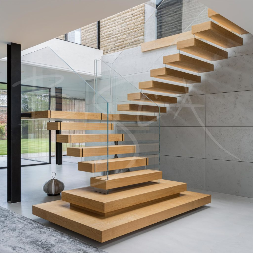 Bisca floating tread staircase 4359