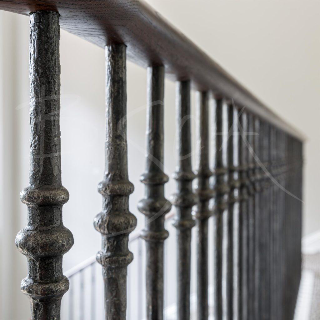 Bisca-7294-U-Shape-Georgian Staircase dark timber volute