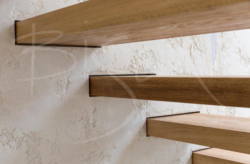 Oak cantilever staircase design uk