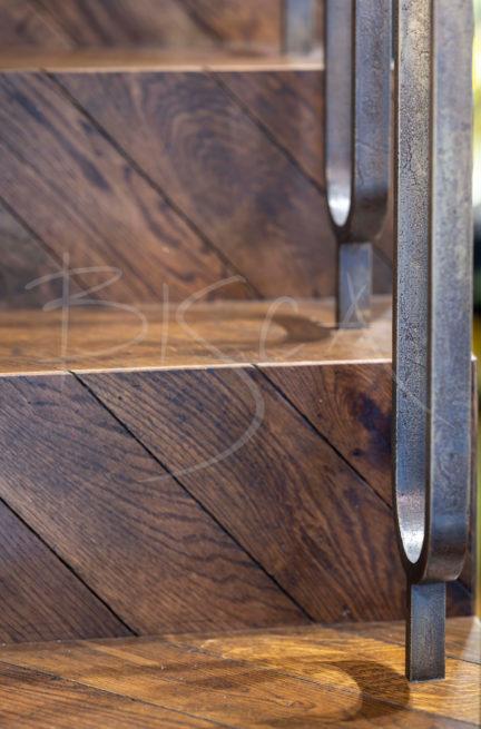 chevron herringbone parquet staircase stairs design London