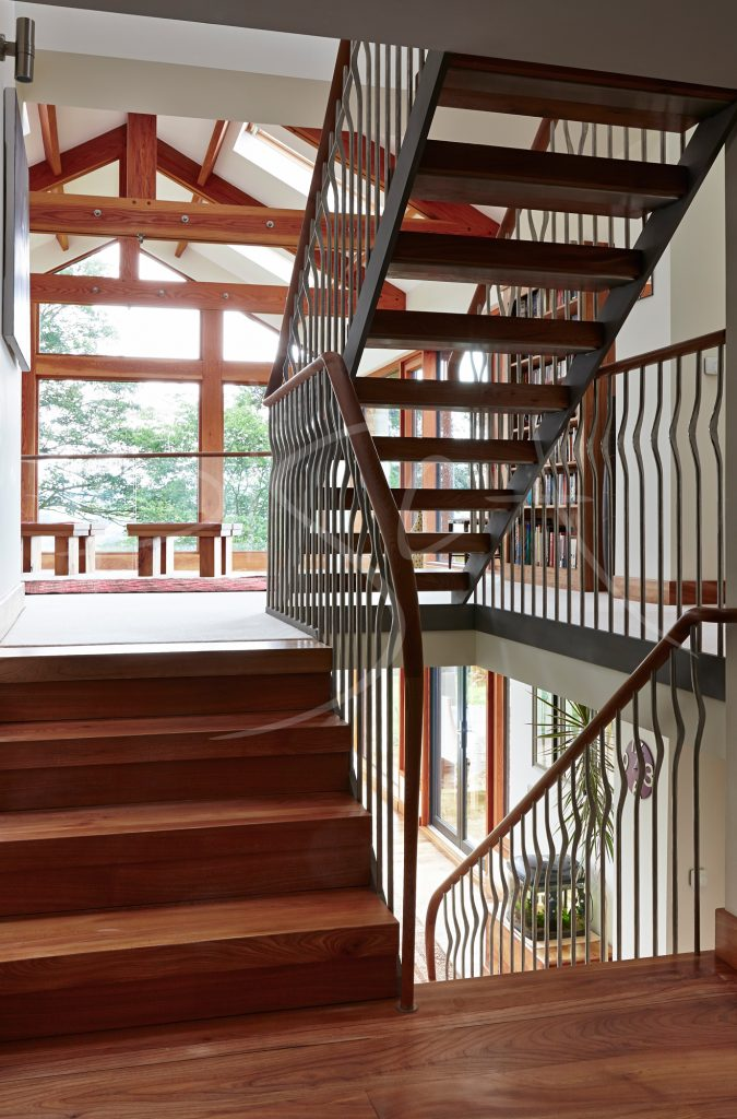 Barn conversion staircase by Bisca Bespoke Stairs