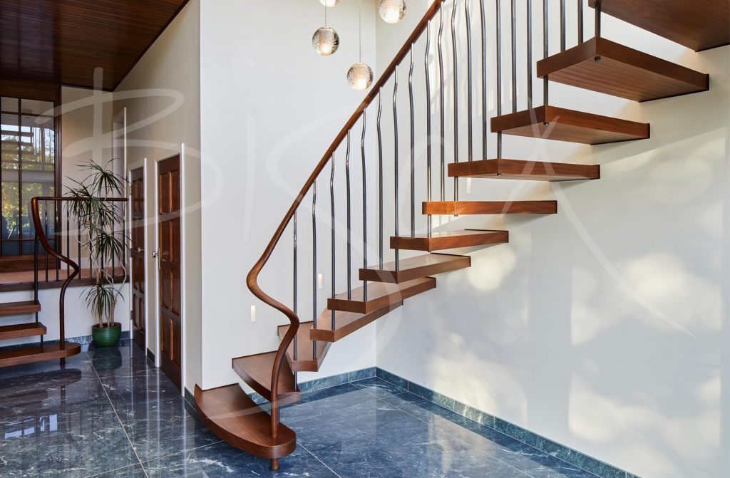 Cantilevered Sapele Stairs with Open Treads Yorkshire