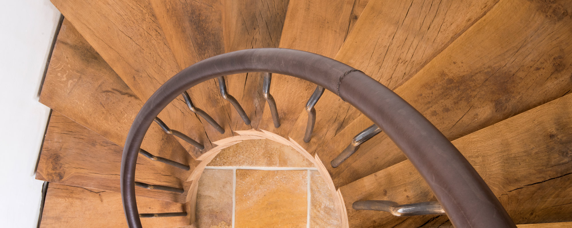 green oak treads on Bisca staircase