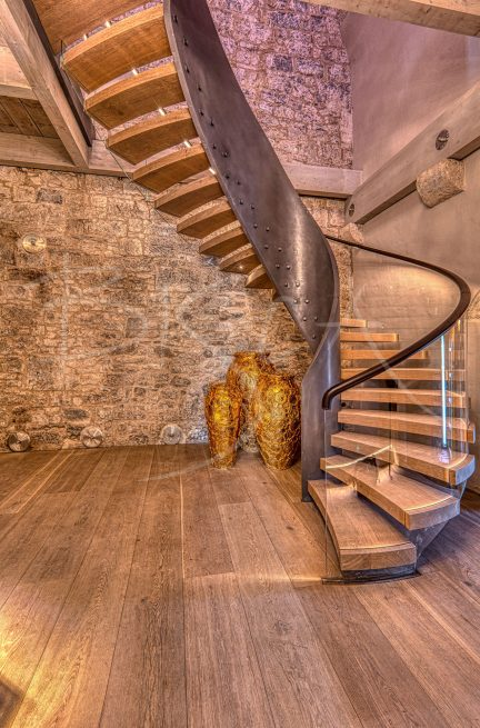Bisca bespoke helical staircase Belvelly Castle stair as shown on RTE castle restoration program