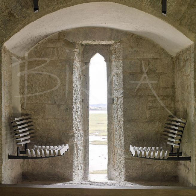Bespoke window seats by Bisca at Belvelly Castle as shown on RTE restoration program