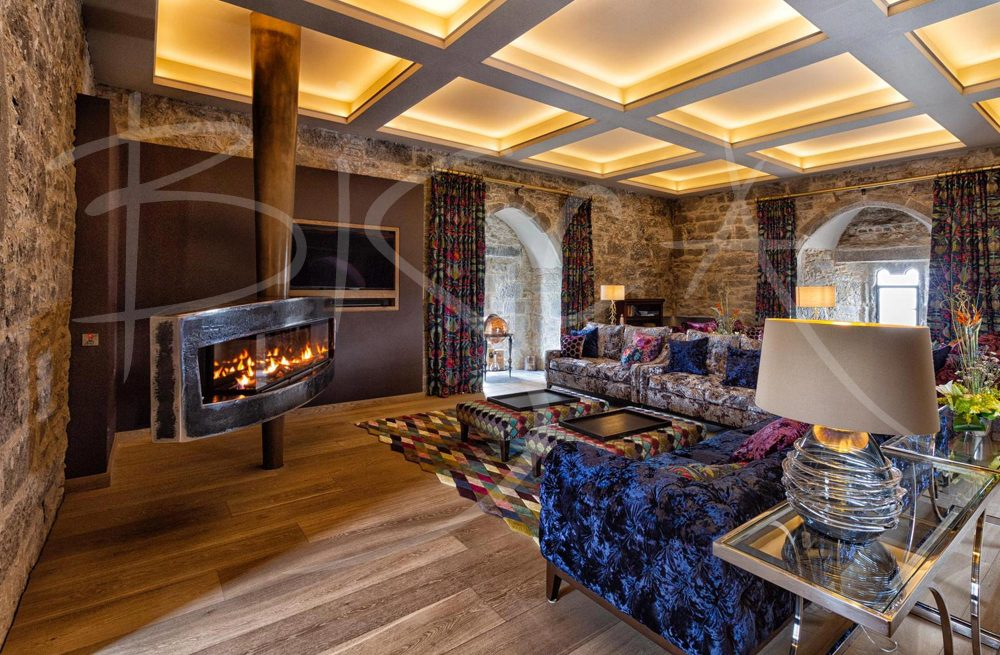 bespoke fireplace by Bisca at Belvelly Castle