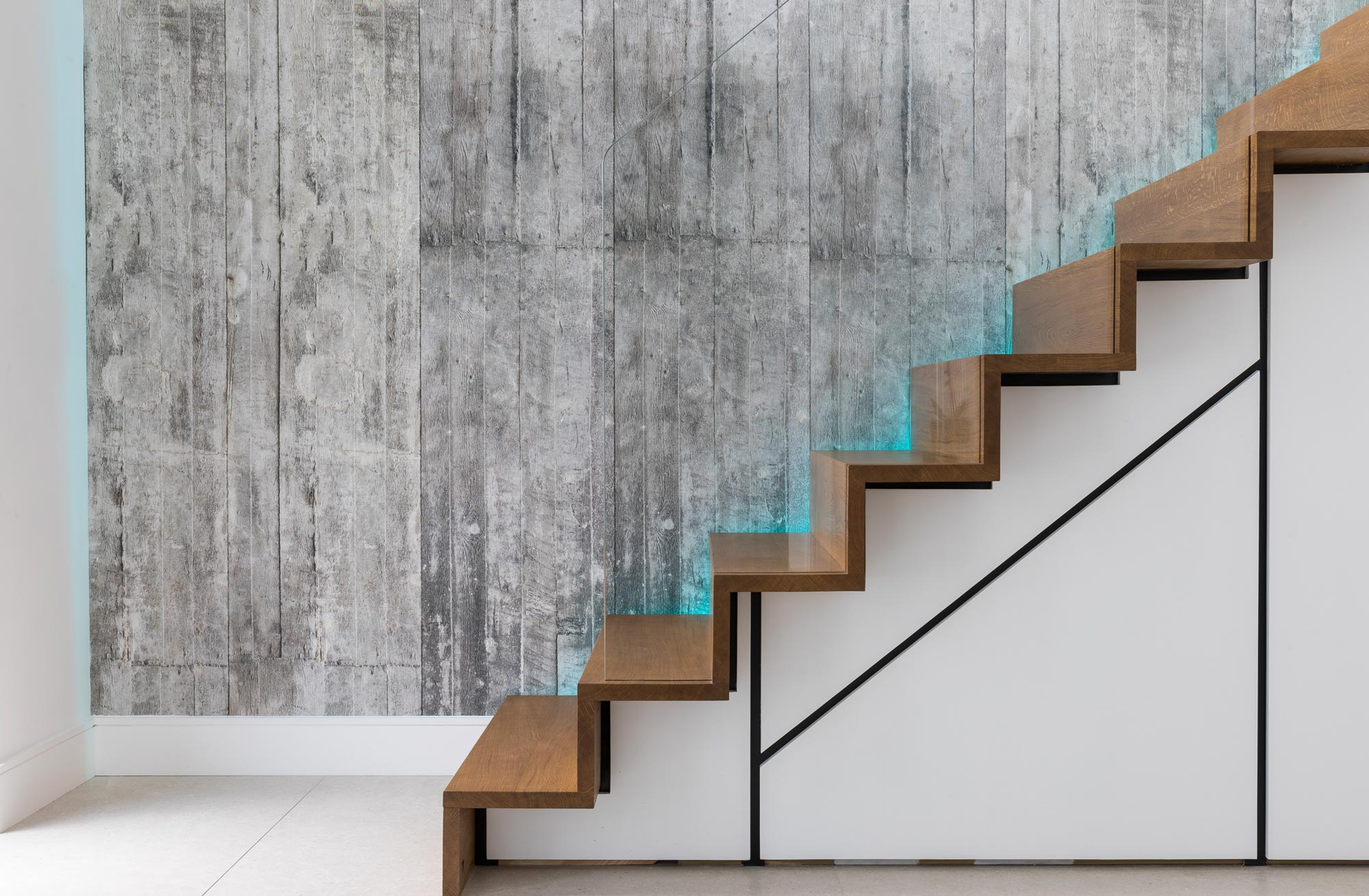 coloured shadow gap staircase lights lighting