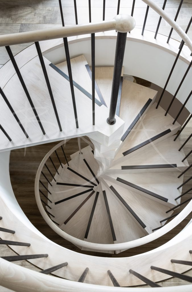 bespoke stacked spiral staircase by bisca spiral stairs