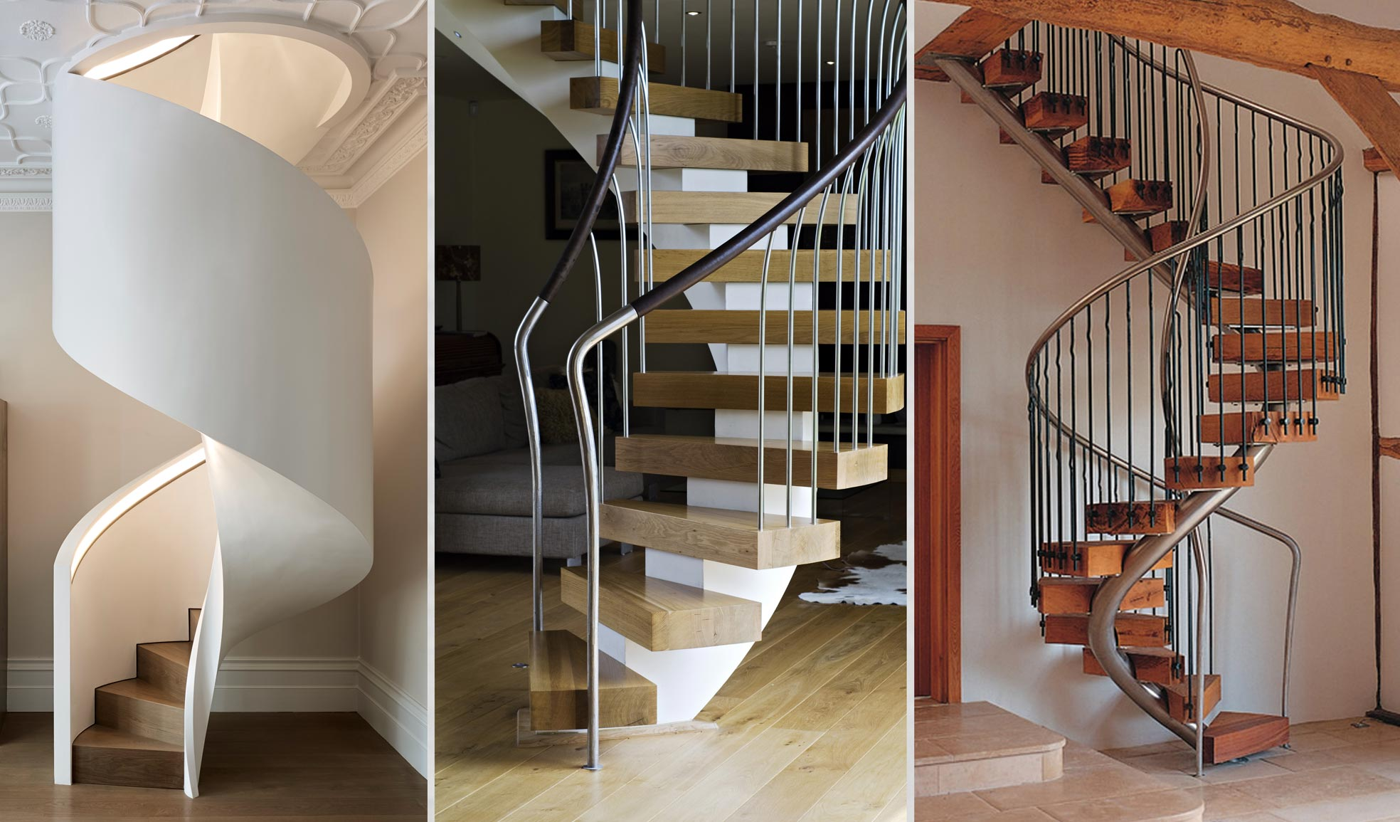 helical stairs commonly mistaken in the media for spirals
