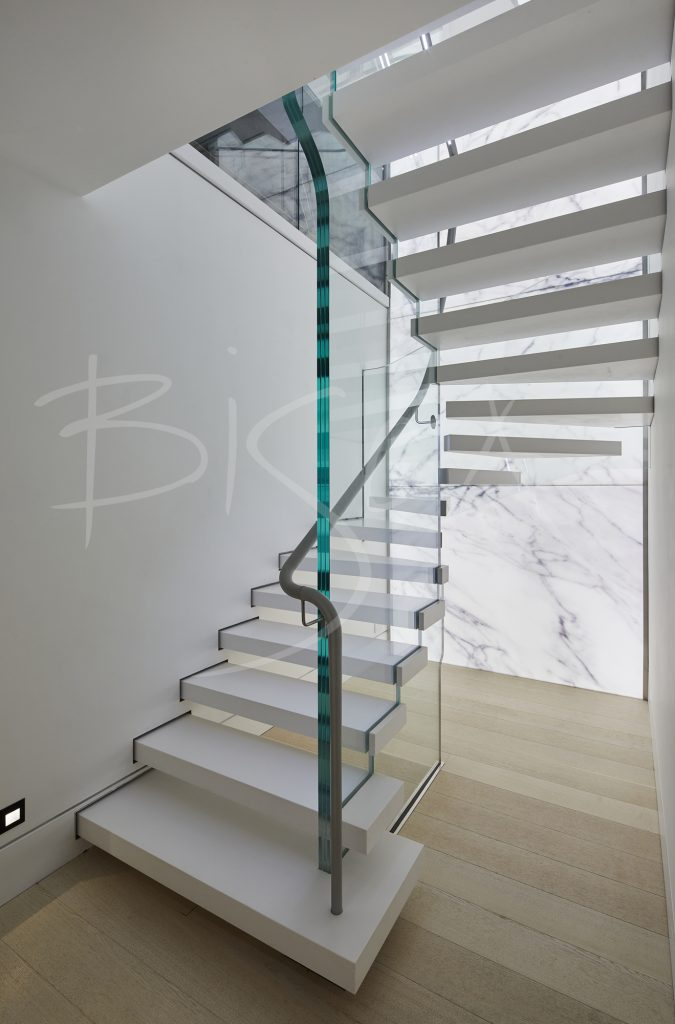 Corian Kitchen staircase design by Bisca