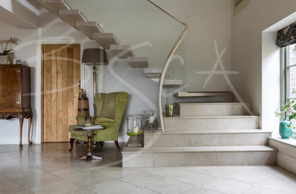 Bespoke Ash Cantilever staircase Yorkshire
